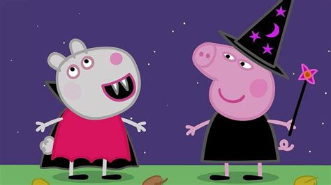 Peppa Pig Episodes  Halloween Party! 🎃  Cartoons For Children  Closed Captions By Cctubes