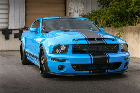 A Grabber Blue Three-valve 2005 Ford Mustang Gt Built For