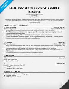 mailroom clerk description resume mail clerk sle resume