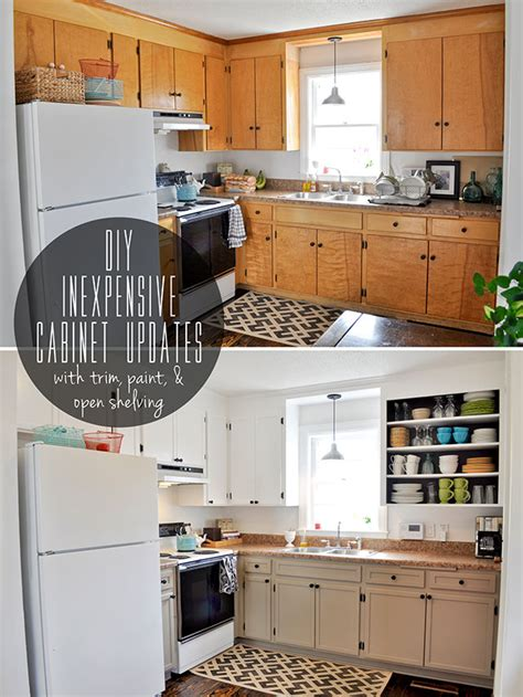 diy kitchen furniture inexpensively update flat front cabinets by adding