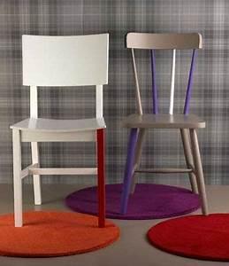 Relooker Des Chaises : chaises cuisine repeintes plusieurs couleurs ~ Melissatoandfro.com Idées de Décoration