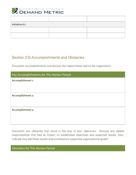 Performance Review Template Performance Review Template