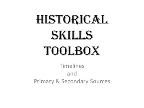 Sles Of Primary Skills And Secondary Skills In Resume by Timelines Source Types