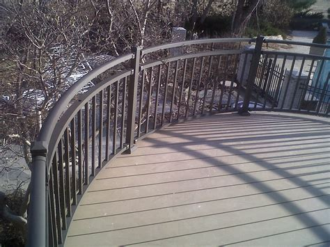 custom commercial curved railing omarail aluminum