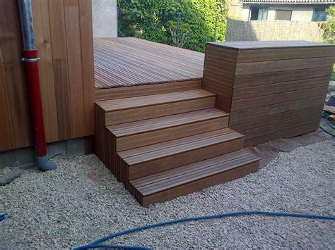 escalier exterieur modulesca habillage bois