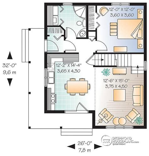 hotel chambre familiale house plan w3507 detail from drummondhouseplans com