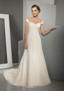 brautkleider empire simple wedding dress with sleeves cap and sleeves ipunya
