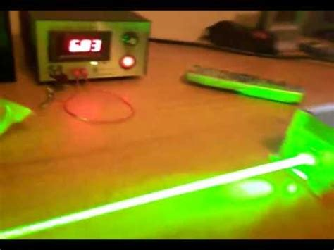 Dpss Laser 2w 532nm Class Iv Cut A Plastic Beer Bottle Youtube