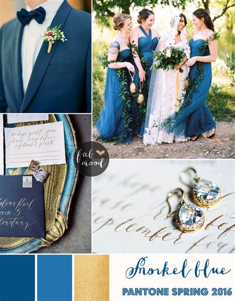snorkel blue wedding theme pantone 2016