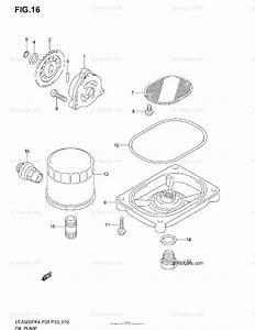 Suzuki Atv 2004 Oem Parts Diagram For Oil Pump