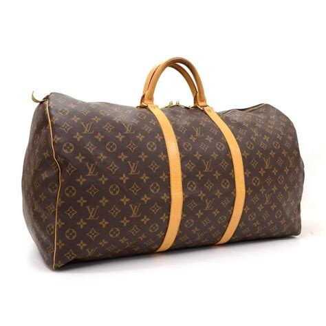 louis vuitton keepall  monogram canvas duffle travel bag