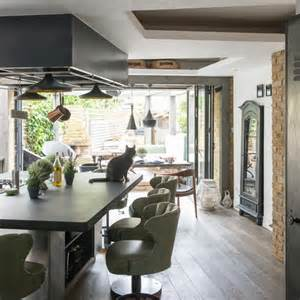kitchen diner design ideas green and wood kitchen diner modern kitchen ideas housetohome co uk