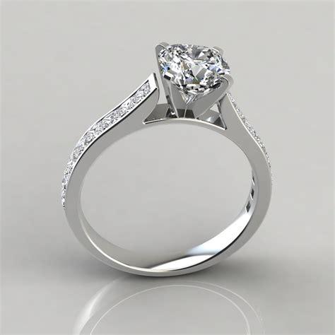 cushion cut channel engagement ring puregemsjewels