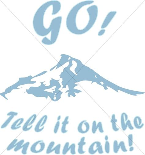 mountain christmas carol word art
