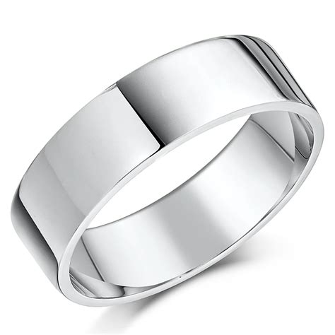 his hers 5 7mm 9ct white gold flat shaped wedding ring bands white gold at elma uk jewellery