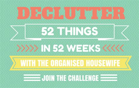 Task 8  Declutter 52 Things In 52 Weeks Challenge The