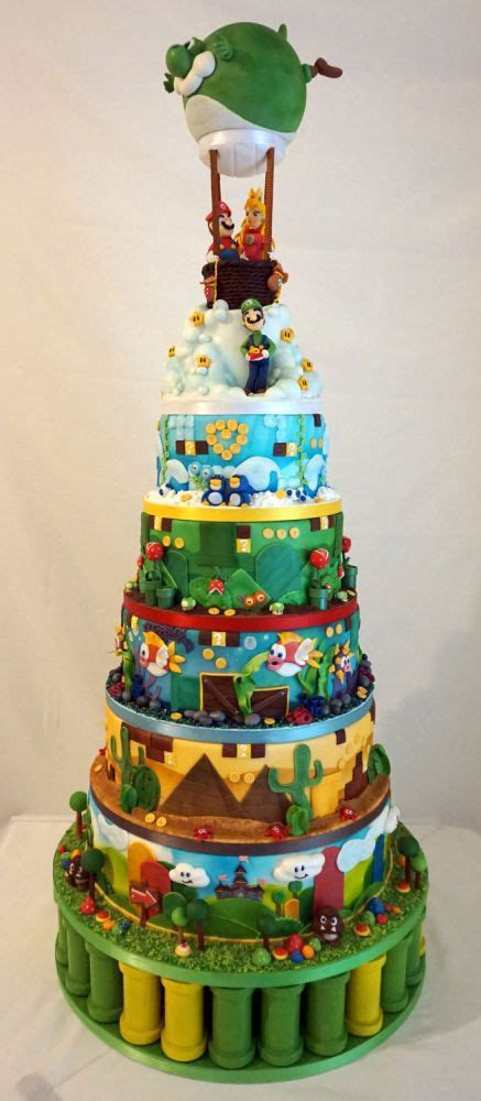Super Mario World Wedding Cake Cakes Cake Mario Cake