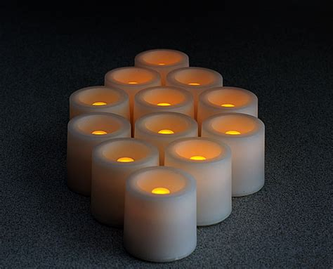 amber led tea lights tall tea lights with recessed amber led super bright