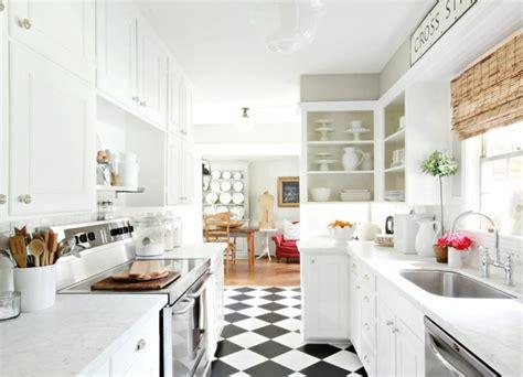 cuisine carrelage blanc carrelage cuisine en noir et blanc 22 intérieurs inspirants