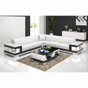Grand Canape Angle : grand canap d 39 angle en cuir lille avec clairage pop ~ Teatrodelosmanantiales.com Idées de Décoration