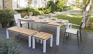 salon de jardin aluminium et teck idees de decoration With photo amenagement terrasse exterieur 2 quel salon de jardin choisir jardinerie truffaut