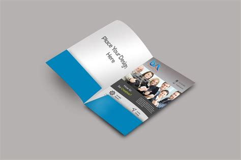 folder mockup design templates