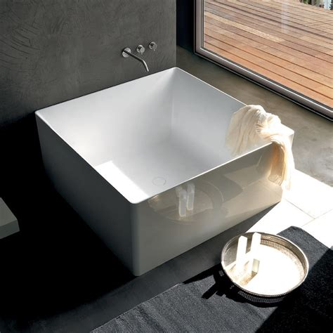 Square Bathtub by New Vasca Square 120cm Solid Surface Free Standing Bathtub