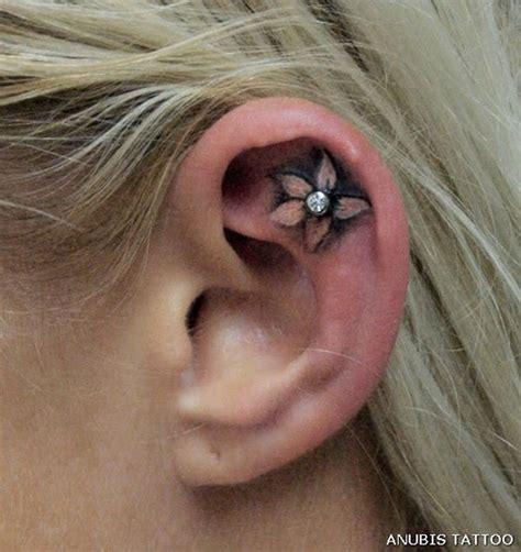 pretty designs  ear tattoos