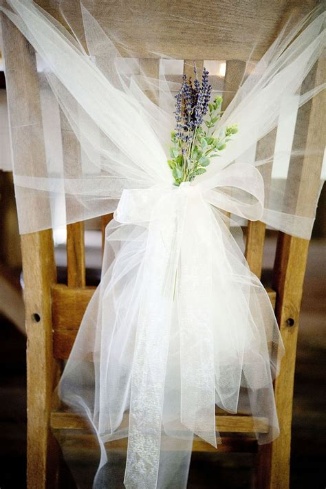 pretty lavender tulle tieback wedding ideas