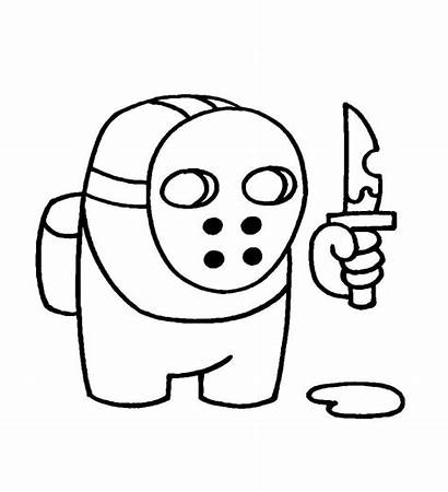 Among Coloring Imposter Printable Drawing Character Colouring