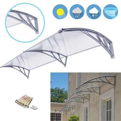 zeny overhead clear door window awning outdoor patio glassy zeny products