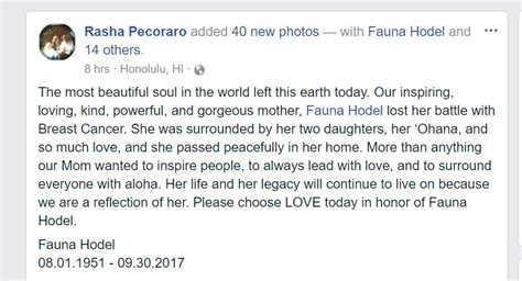 Fauna Hodel Dies At Age 66 May She Rest In Peace Steve Hodel