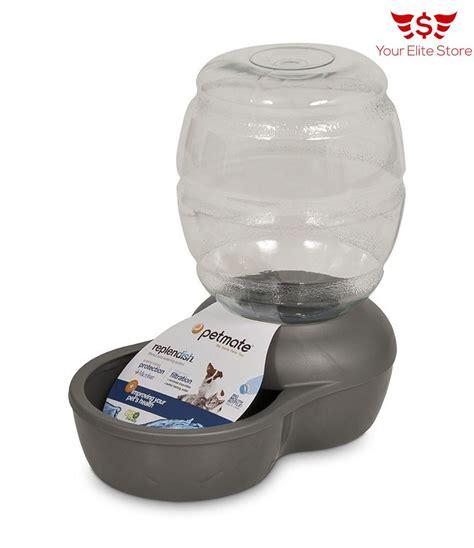 automatic pet gravity waterer dog cat fresh water bowl