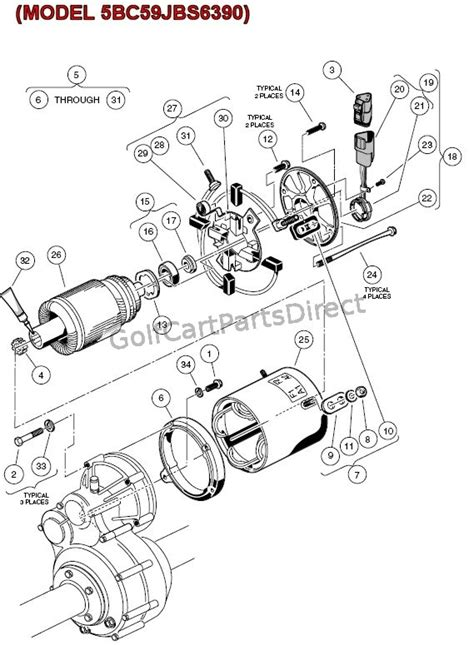 starter motor components parts schematic diagram car pictures