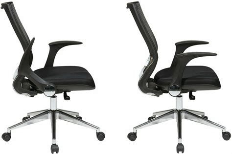 office mesh back managers chair with fold away arms