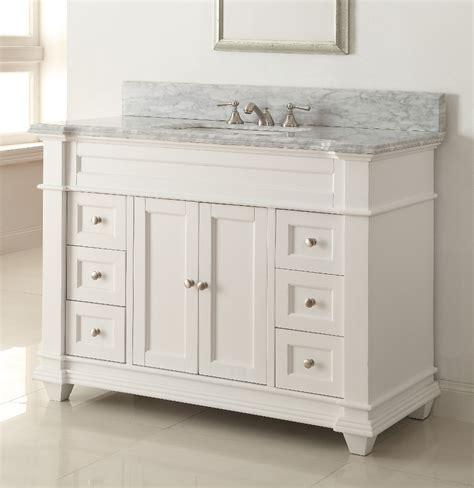 32 inch bathroom vanity with adelina 49 inch bathroom vanity white finish carrara