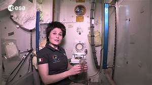 International space station toilet tour youtube for How do astronauts go to the bathroom in space