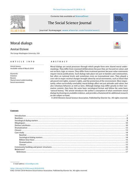 (PDF) Moral dialogs