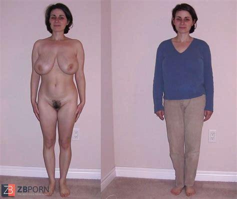 Nackt angezoge frauen und Angezogen Nackt