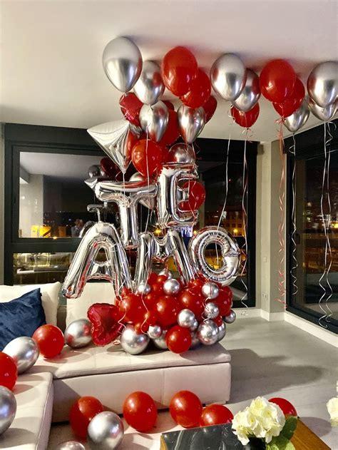 bouquet de san valenti en  decoracion  globos