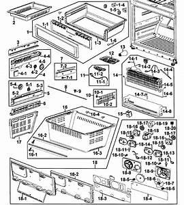 Freezer Diagram  U0026 Parts List For Model Rf267abbpxaa0000