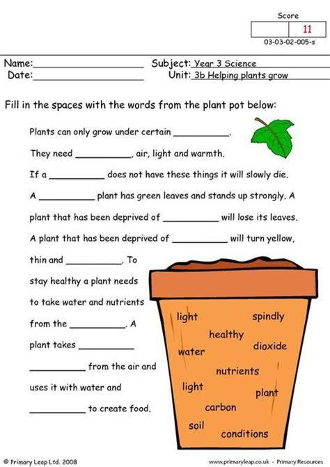 primaryleapcouk   plants grow worksheet science