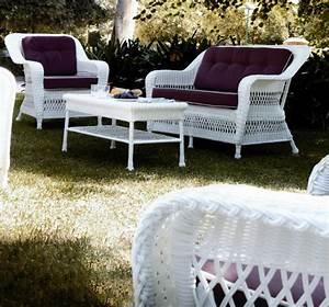 Canap De Jardin 2 Places En Rsine Tresse Blanc Brin D