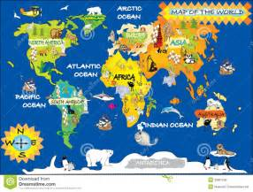 Free Kids World Map
