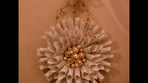 holiday wreath    book pages youtube