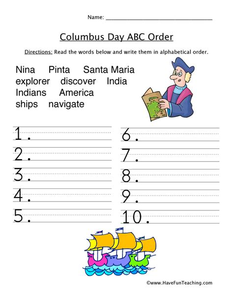 Columbus Day Math Worksheets  Columbus Day Crafts And Activities Enchantedlearning Christopher