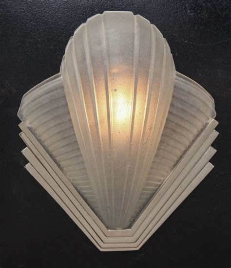 art deco pair of wall sconce quot cleopatra quot by sabino at 1stdibs