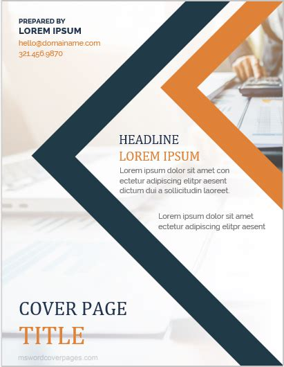 Cover Page Template by 10 Best Report Cover Page Templates For Businesses Ms