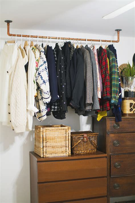 diy clothing rack hanging copper pipe clothing rack diy a beautiful mess