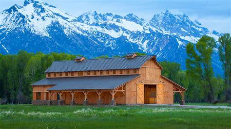 barn horse western beam barns plains creek sand horses wood stalls homes dream building open garage traditional pole sandcreekpostandbeam project
